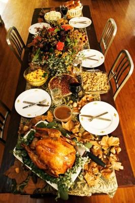 Thanksgiving Table Grandma Maud S Bean Meals Pie
