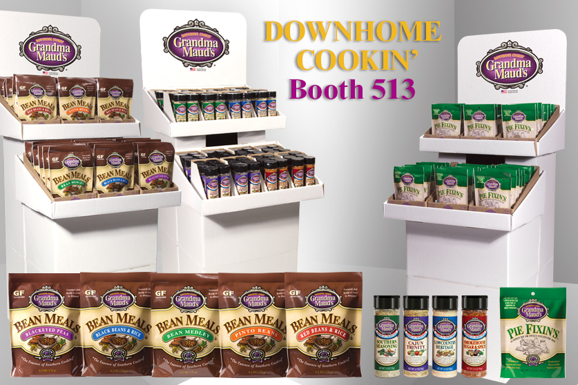 Grandma Maud's Premium Retail Product Line. Bean Meals; Red Beans & Rice, Pinto Beans, Bean Medley, Blackeyed Peas, Black Beans & Rice, American Tradition Seasonings; Southern Seasoning, Cajun Trinity, Lowcountry Heritage, Smokehouse Sugar & Spice, Pie Fixin's Pumpkin Pie and Sweet Poatato Pie Mix